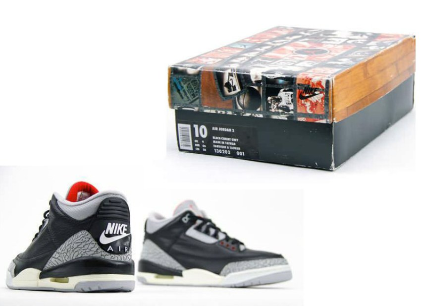 new product 5a1d7 a7841 ... Jordan models including both the black cement and white cement Air  Jordan 3 complete with Nike Air branding and a special edition Jordan box  and paper, ...