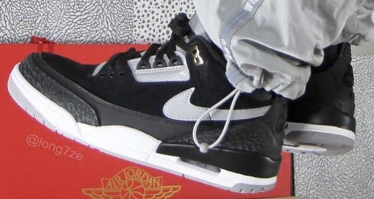 "83872c07e663 When to Expect the Air Jordan 3 Tinker ""Black Cement"""