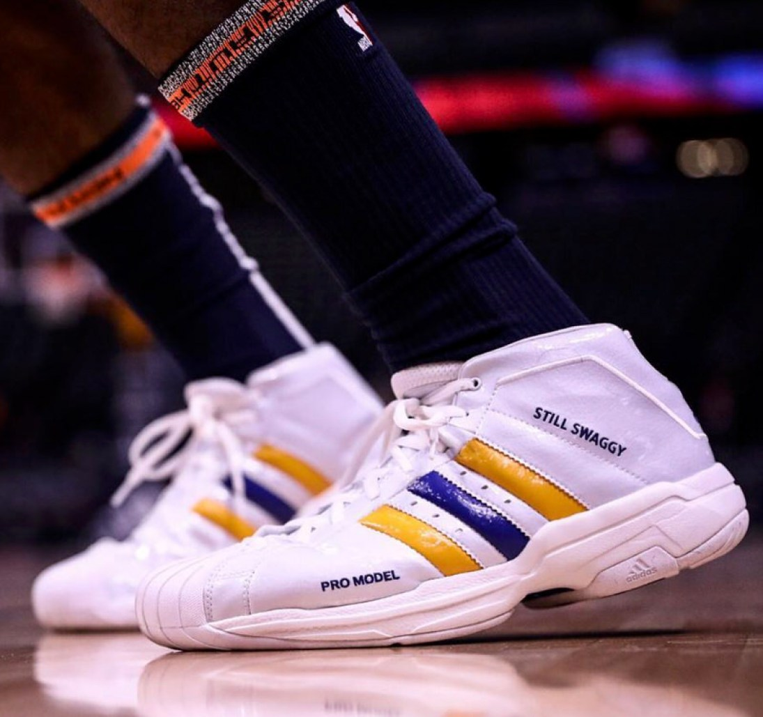 7166508983914 Nick Young in his adidas Pro Model PE (photo via Nuggets)