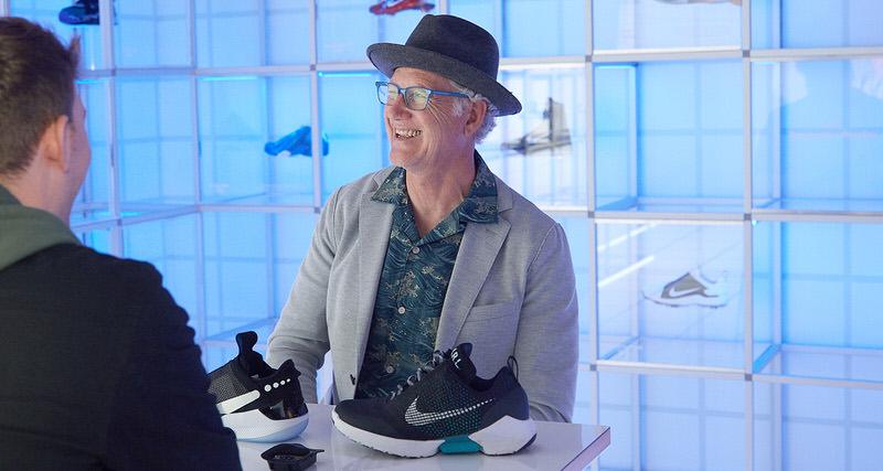 b8c3b2789e9c Q A    Design Legend Tinker Hatfield On Nike s Evolution Of Auto-Lacing  Sneakers