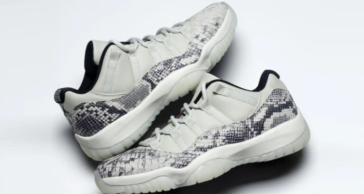 "Air Jordan 11 Low ""Grey Snakeskin"""