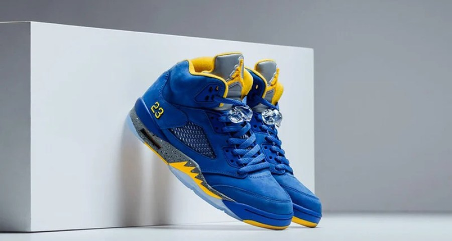 "4488a7ec7ec6 Air Jordan 5 ""Laney"" Alternate Colorway Continues MJ s High School Legacy"