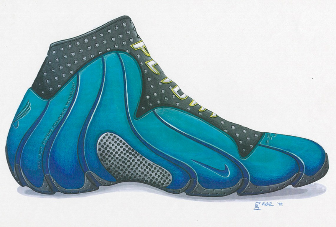 sports shoes bf025 eaf82 Following its predecessors – the 1997 Nike Air Foamposite One and 1998 Nike  Air Foamposite Pro – the Flightposite 1 also featured a blow-molded  composite ...