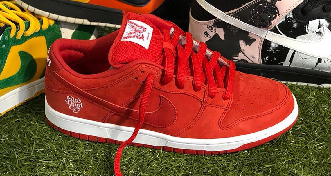A Closer Look At The Girls Don T Cry X Nike Sb Dunk Low Nice Kicks