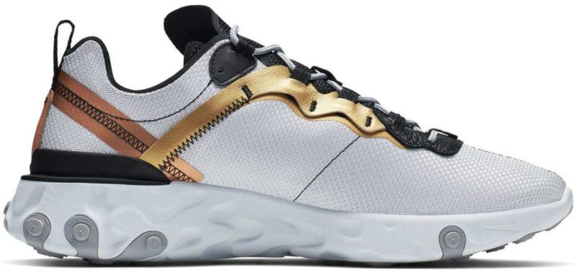 """Nike React Element 55 """"Metallic Gold"""""""