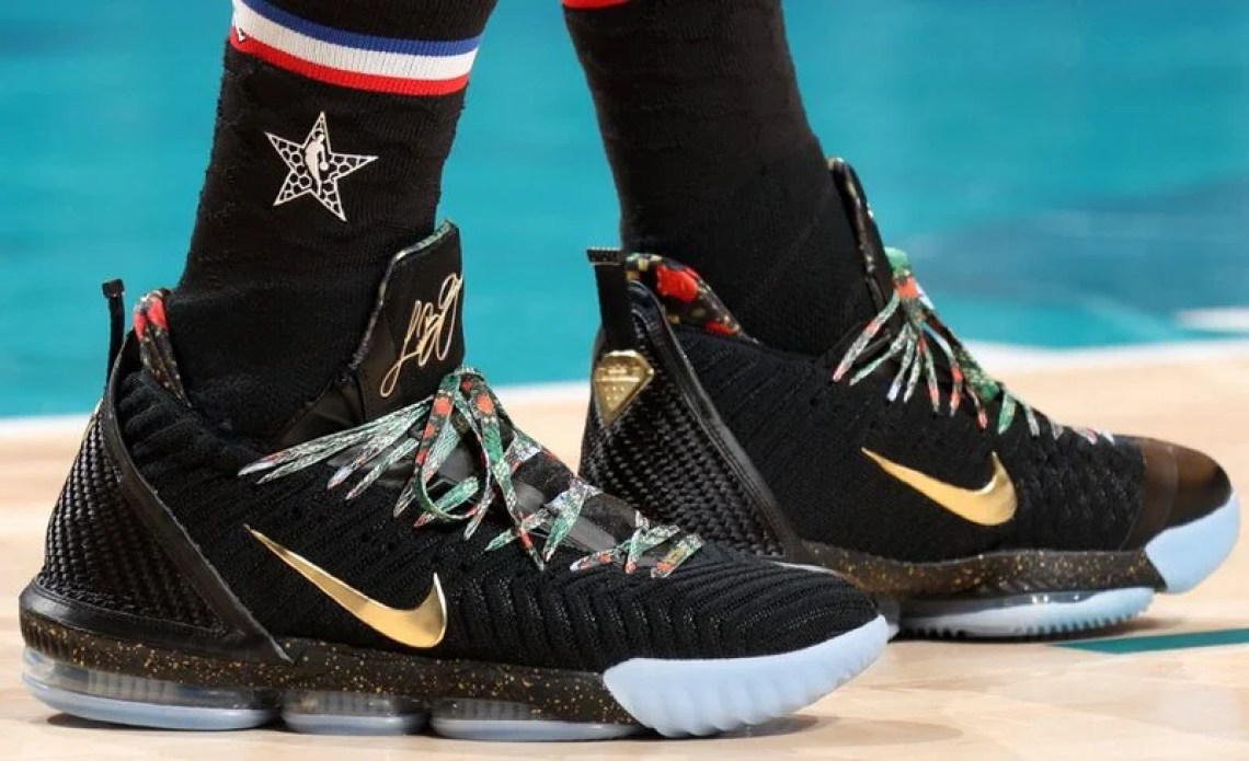 "c667dbc3c5784 All-Star Weekend. LeBron James in the Nike LeBron 16 ""Watch The Throne""  (Nathaniel S. Butler NBAE via Getty Images) ..."