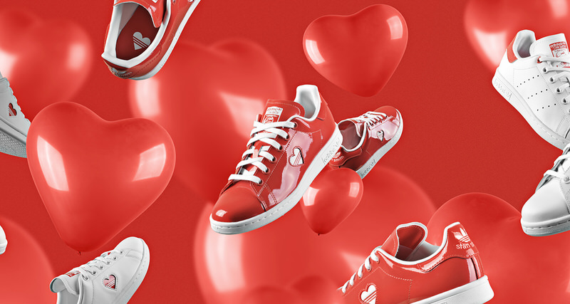 """low priced 5a3b2 39afb adidas is for the Lovers with Stan Smith """"Valentine s Day"""" Pack"""
