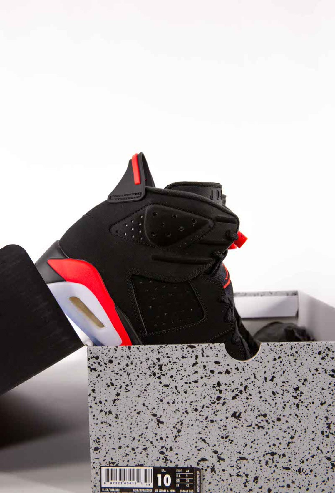"2a75ab78d0c Images of the 2019 Air Jordan 6 OG ""Black Infrared"" have been captured  above and below by our own Rob Mata thanks to our friends at Kicking It ATX."