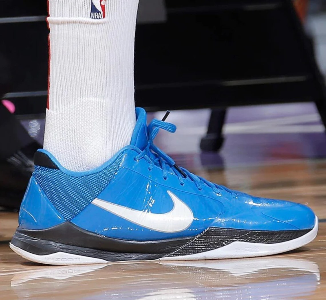 "904b2605f PJ Tucker in the Nike Zoom Kobe V ""Miles Davis"" (photo by Rocky Widner via NBA  Kicks)"