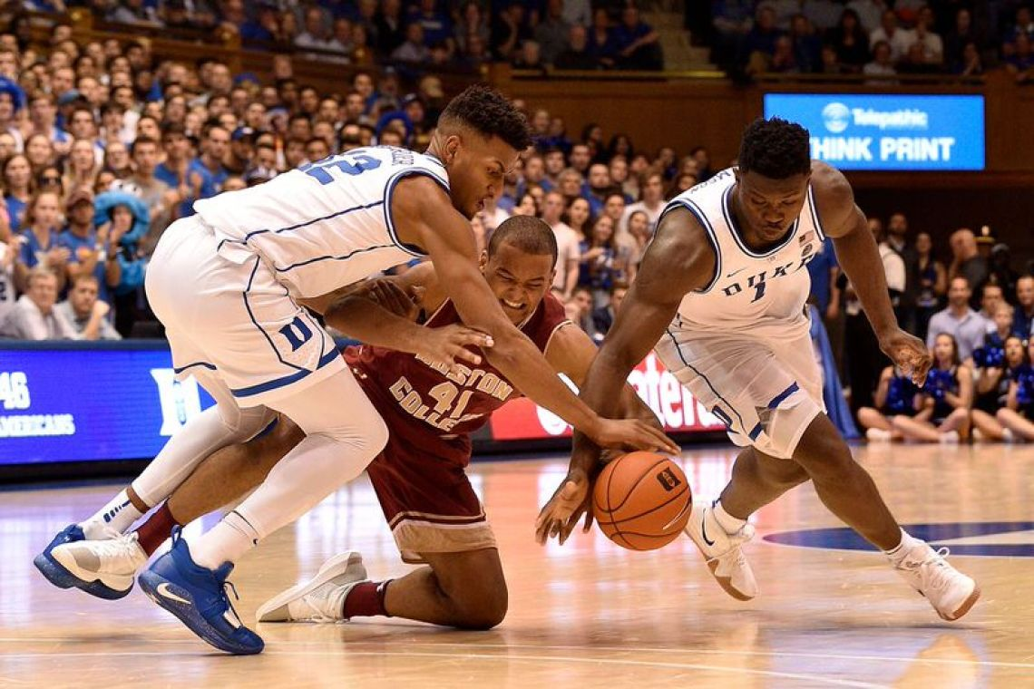 "b53cdd2882f7 ... Zion Williamson in the Nike Kyrie 4 ""Uncle Drew"" (photo Grant  Halverson Getty Images via Duke Basketball Report) ..."