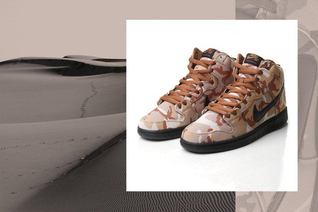 "Nike SB Dunk High ""Desert Camo"""