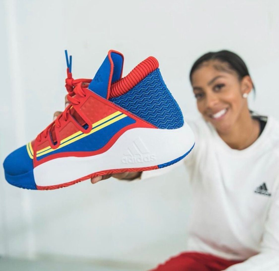 """buy online ae4ff 09a76 Candace Parker with the Captain Marvel x adidas Pro Vision """"ACE"""""""