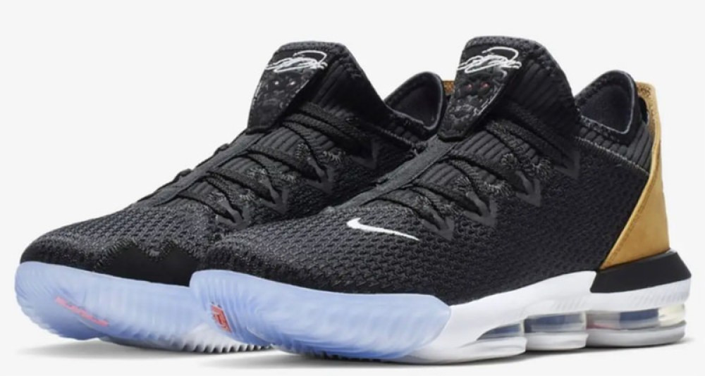 official photos b3487 7843b Nike LeBron 16 Low Black White