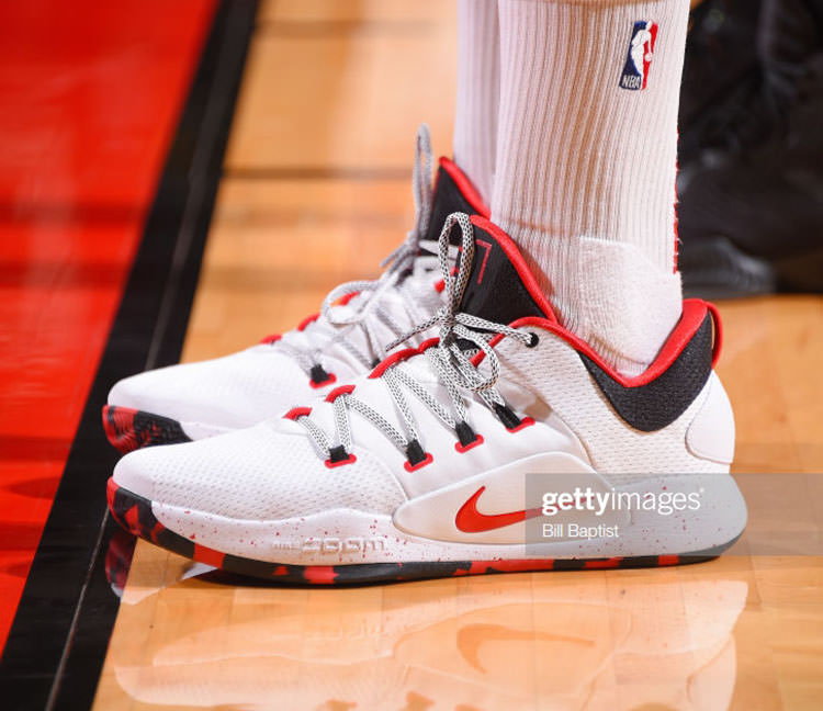 ac5edee25cce ... PJ Tucker in his Nike Hyperdunk X Low PE (photo by Bill Baptist NBAE  via Getty Images)