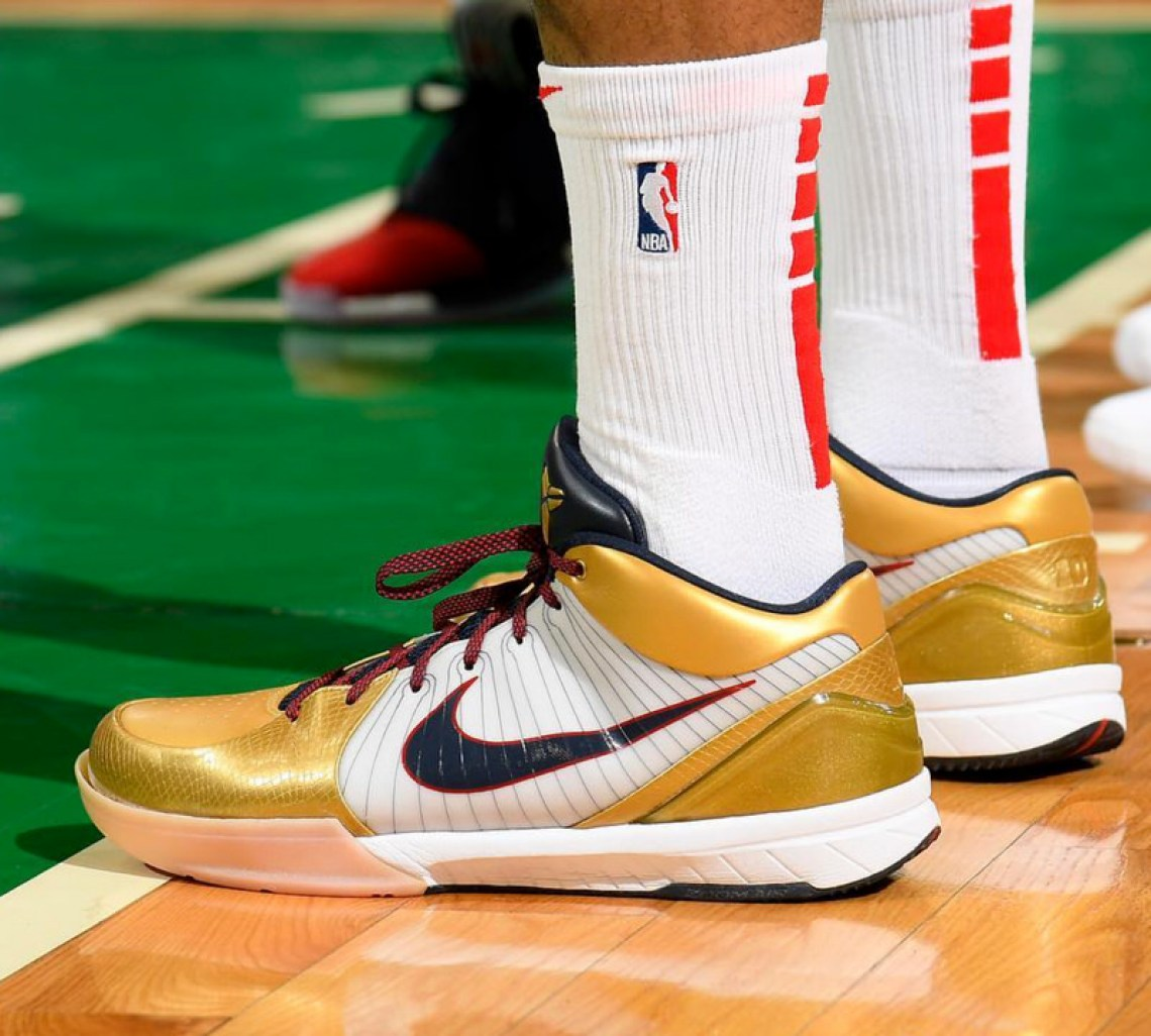 "6c552854a PJ Tucker in the Nike Kobe 4 ""Gold Medal"" (photo via BR Kicks) ..."