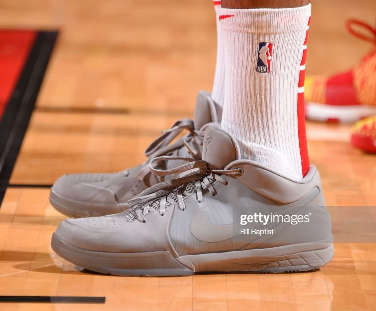 "sale retailer f3119 d857c ... PJ Tucker in the Nike Kobe IV ""Fade to Black"" (photo by Bill  Baptist NBAE via Getty Images)"