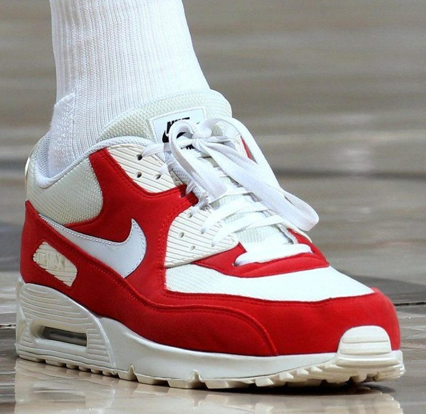 ... Thabo Sefolosha in his Air Max 90 PE (Melissa Majchrzak NBAE via Getty  Images) ... 9dd55071e