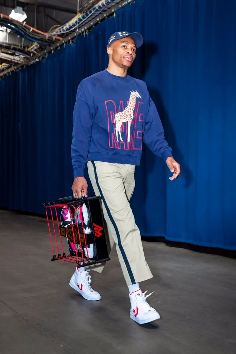 Russell Westbrook in the Converse Pro Leather