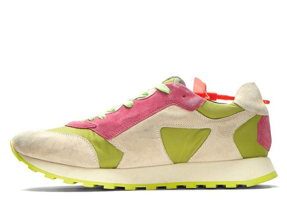 OFF-WHITE Green Arrow Runner Sneaker