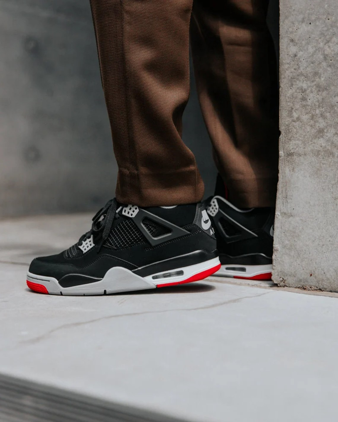 new arrival cd23c 1c2f2 Check out the images below for an on-foot look at the Jordan 4 Black Red  releasing on May 4th.