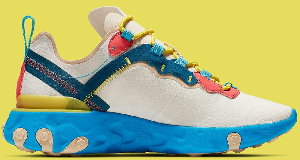 f238d938ded4 Blue Soles Land on Nike s React Element 55