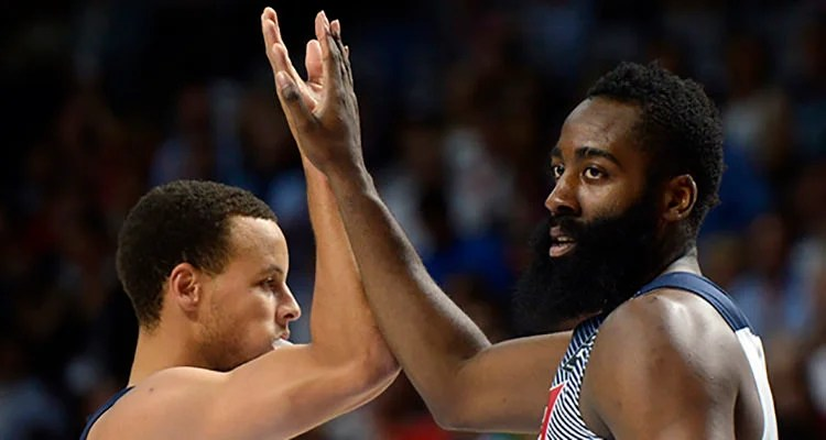 Steph Curry and James Harden