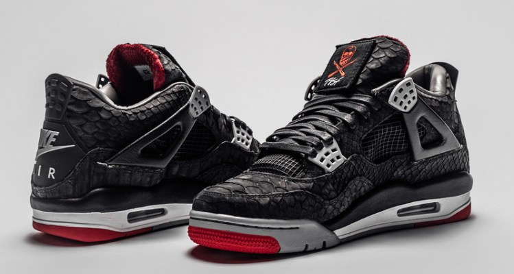 sale retailer ffc44 d6524 Does the Air Jordan 4 Black Red Look Even Better in Python