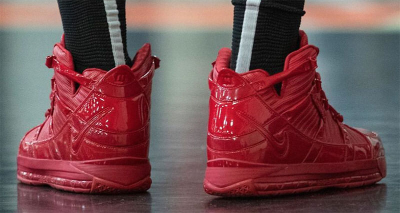 "separation shoes 1f0ec 45d71 King James Calls Upon Kanye for Inspiration on ""Red October"" Retro PE"