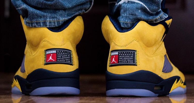 Michigan Jordan Gear >> Air Jordan 5 Michigan Release Info | Nice Kicks