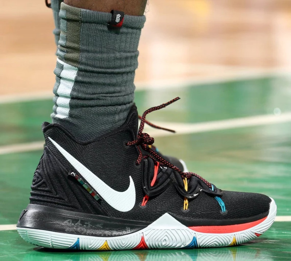 "new product e9410 da1c1 ... Kyrie Irving in the Nike Kyrie 5 ""Friends"" vs. Milwaukee Bucks  (Nathaniel S. Butler NBAE via Getty Images) ..."