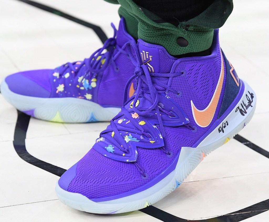 9672159f1598 Kyrie Irving in the Nike Kyrie 5 PE vs. Milwaukee Bucks (via NBA Kicks)