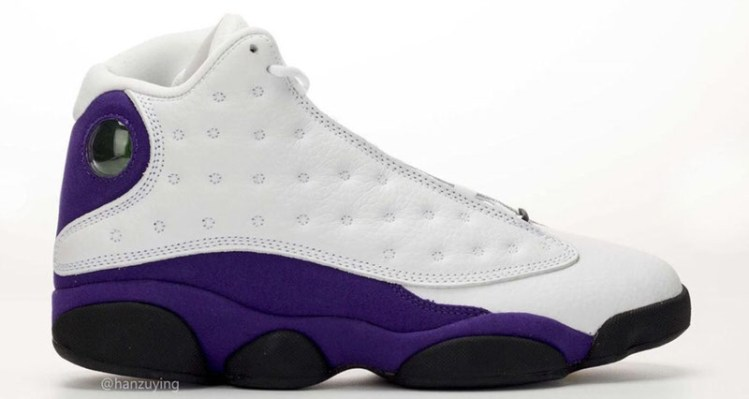 """164c7abe13 The Best Look Yet at the Air Jordan 13 """"Lakers"""""""