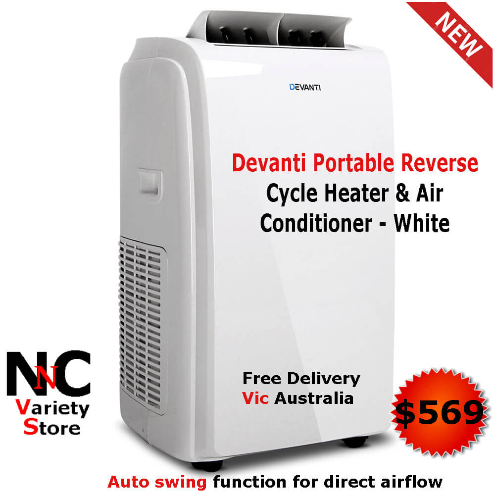 be21a29b77b Devanti Portable Reverse Cycle Heater   Air Conditioner - White - Nice n  Cheap Variety Store
