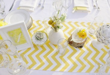 Inspiración: Una mesa de dulces en gris y amarillo