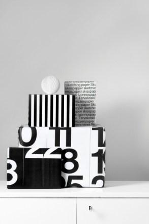 Inspiración envoltorios en blanco y negro