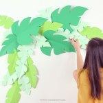 DIY: Cómo hacer un fondo de hojas de cartulina