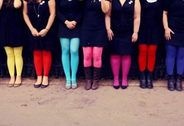 Inspiración: Despedida de soltera con medias de colores