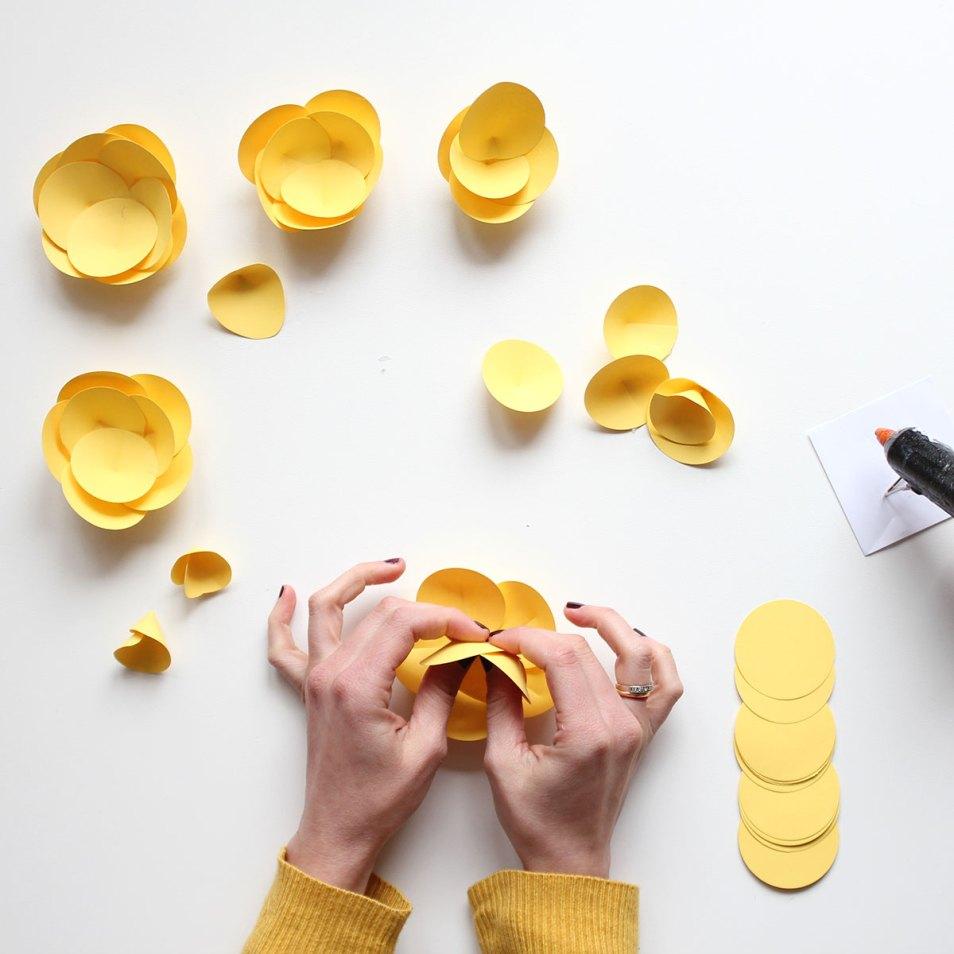 Nice Party talleres creativos en Madrid Flores de papel para fiestas