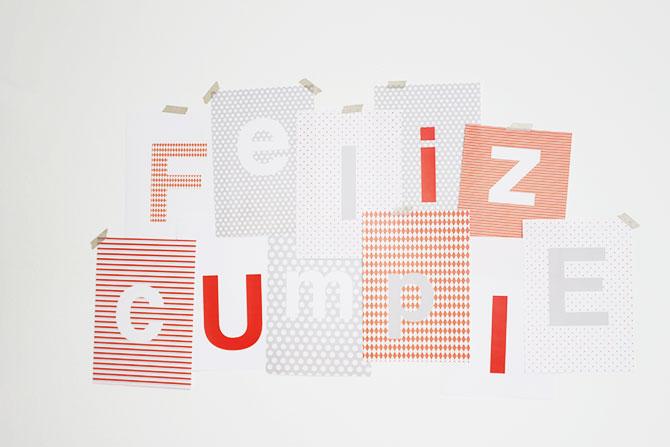 Nice Party: Pack de fiesta para imprimir cartel de cumpleaños