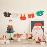 Mesa de Navidad con La fiesta de Olivia