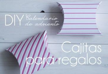 Calendario de adviendo DIY: Cajitas de rayas para pequeños regalos