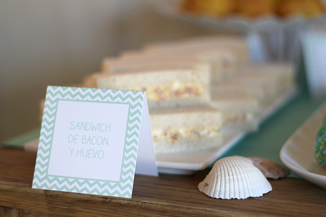 Nice Party H&M kids mesa de dulces sandwiches