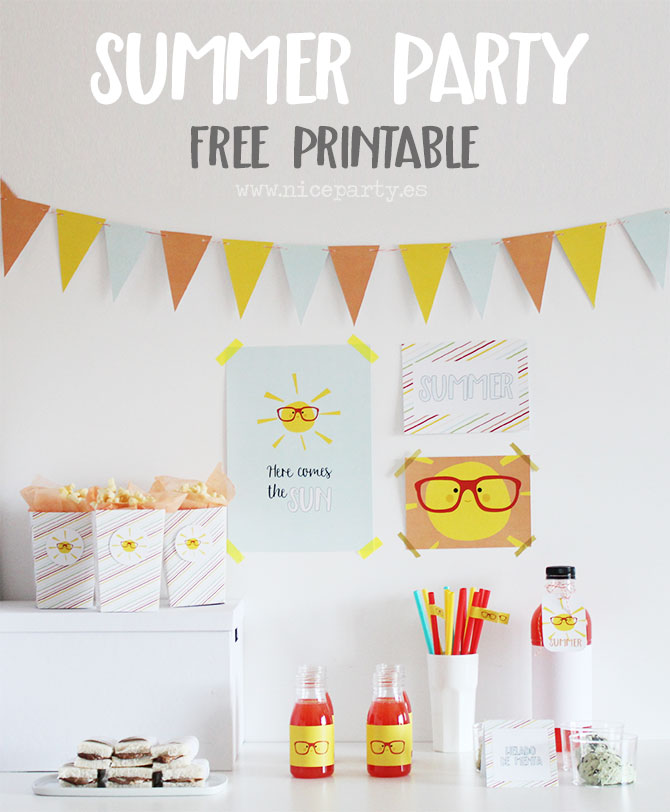 Summer Party free printable Nice Party