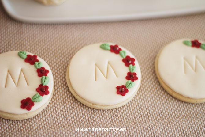 galletas de comunión con la inicial