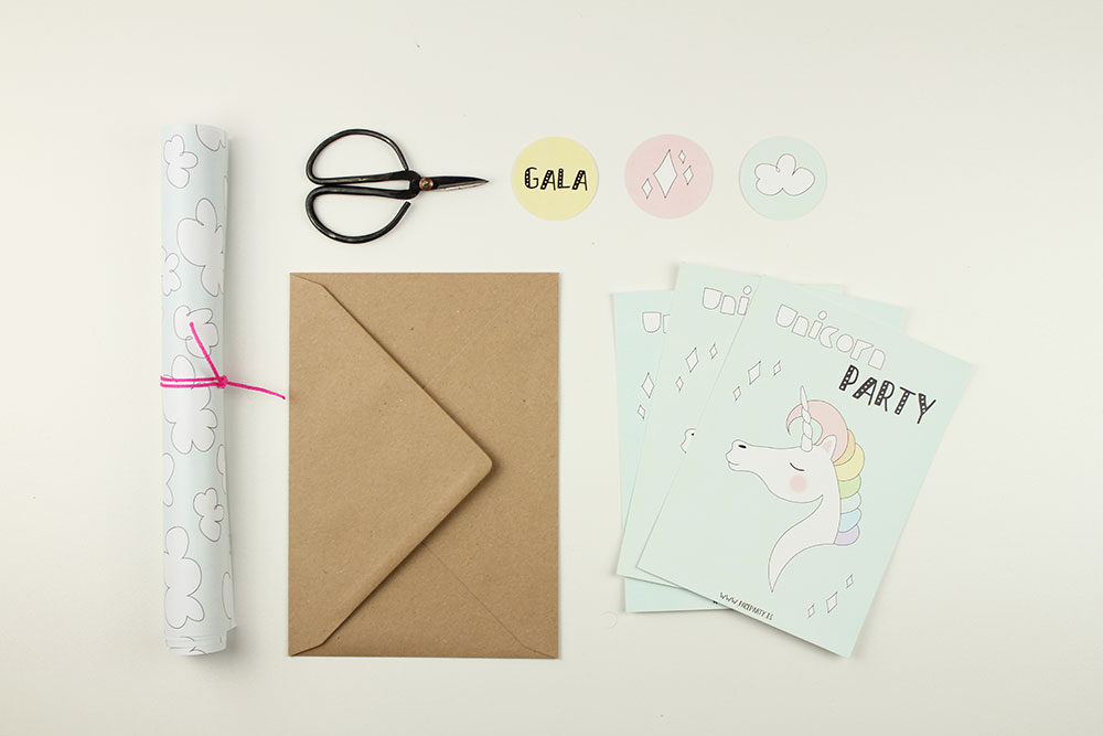 Nice Party invitaciones fiesta unicornio DIY