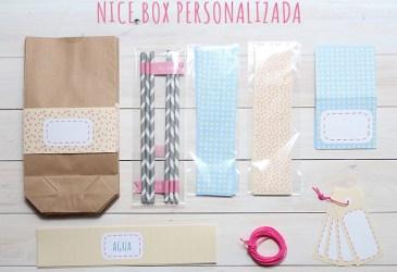 Nice Box a medida: El 1º cumpleaños en azul, amarillo y rosa