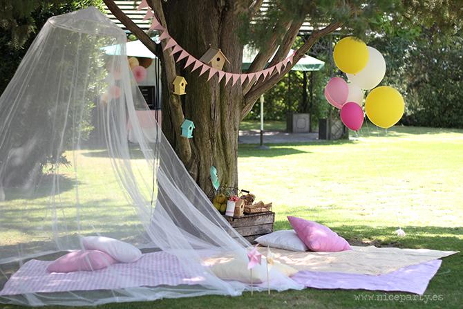 Nice Party Comunión bosque Mesa de dulces y decoración (5)