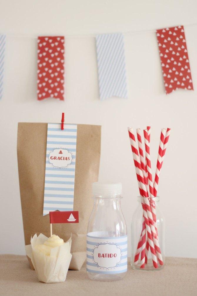 Nice Party Nice Box Marinero Pack de fiesta. Cómo preparar una mesa de dulces para una comunión