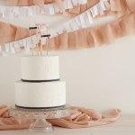 DIY topper de encaje para tarta
