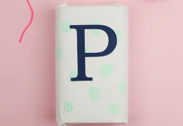 DIY envoltorios de regalo con chalk paint
